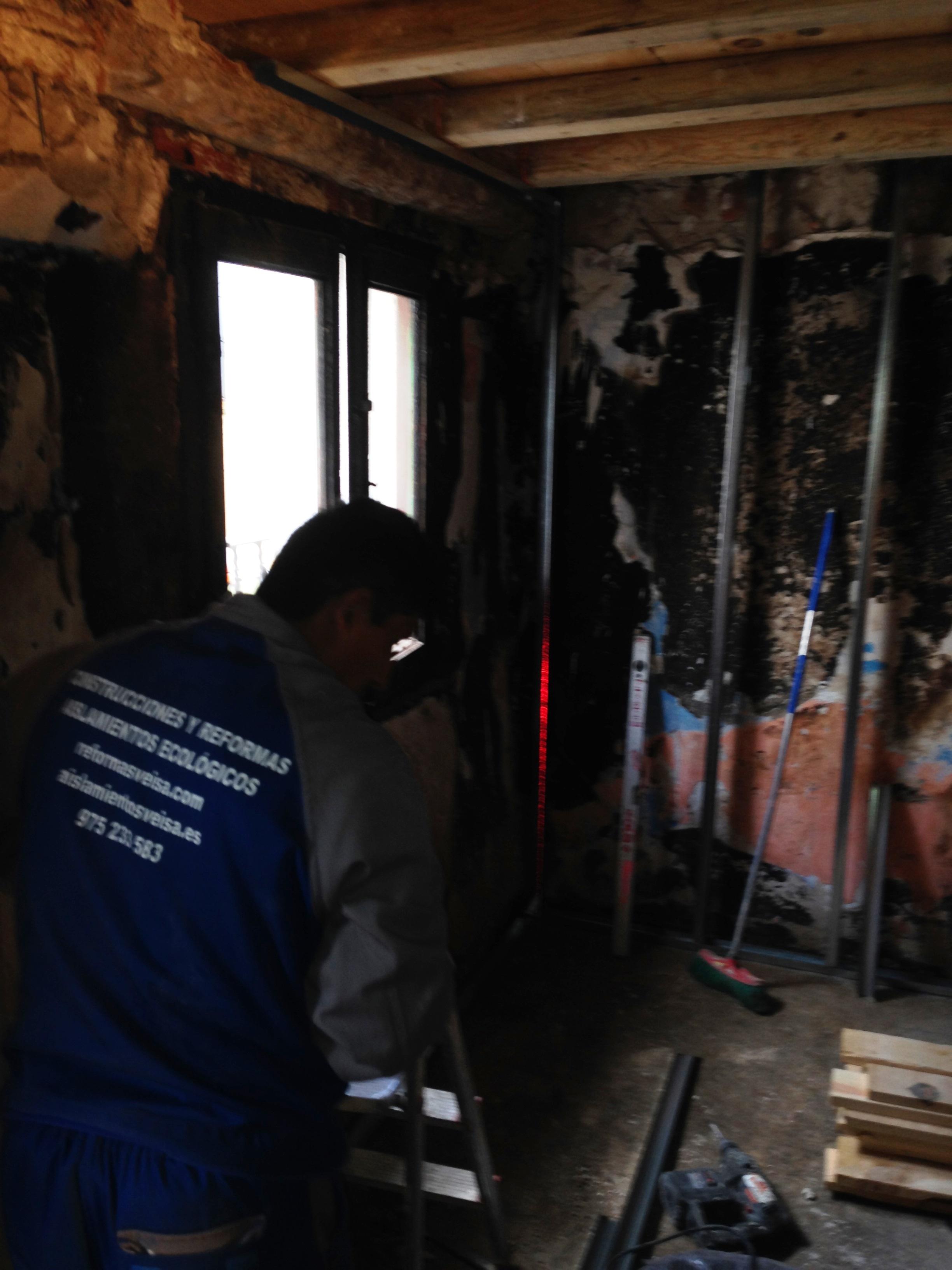 Rehabilitacion vivienda incendiada en provincia Soria